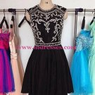 Beaded Short Black Prom Evening Homecoming Cocktail Dresses 122