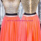 Beaded Sequins Two Pieces Short See Through Prom Evening Homecoming Cocktail Dresses 125