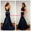 Two Pieces Mermaid V-Back Long Prom Evening Formal Dresses 143
