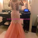 Mermaid Lace and Tulle Long Prom Evening Formal Dresses 150