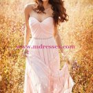 Long Pink Sweetheart Chiffon Bridesmaid Prom Evening Formal Dresses 151
