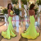 Trumpet/Mermaid Backless Long Prom Evening Formal Dresses 155
