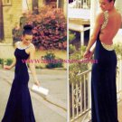 Beaded Backless Long Sexy Prom Evening Formal Dresses 161