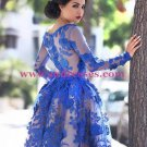 Blue Short Knee-Length Homecoming Prom Evening Formal Dresses 171