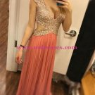 Sexy Low V-Neck Sequins Long Prom Evening Formal Dresses 176