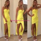 Strapless Yellow Prom Evening Formal Dresses 189