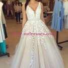 A-Line Straps Sleeveless Long Prom Evening Formal Dresses 190
