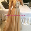 Long Sleeves Off-the-Shoulder Lace Chiffon Prom Dresses Evening Gowns 209