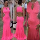 Beaded Sexy Long Mermaid Prom Dresses Evening Gowns 214