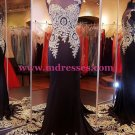 Trumpet/Mermaid God Lace Appliques Long Red Prom Dresses Evening Gowns 221