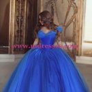 Ball Gown Off-the-Shoulder Blue Prom Dresses Evening Gowns 224