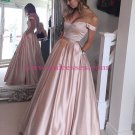 Ball Gown Off-the-Shoulder Beaded Prom Dresses Party Evening Gowns 250
