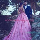 Ball Gown Lace Long Pink Prom Dresses Party Evening Gowns 260