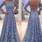 A-Line Long Sleeves Lace Prom Dresses Party Evening Gowns 278