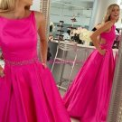 A-Line Beaded Long Prom Dresses Party Evening Gowns 315