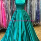 A-Line Long Green Beaded Long Prom Dresses Party Evening Gowns 342