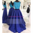 Two Pieces Blue Prom Dresses Party Evening Gowns 387