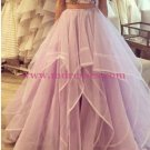 Purple Two Pieces Prom Dresses Party Evening Gowns 463