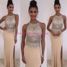 Sheath Beaded Long Prom Dresses Party Evening Gowns 476