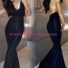 Mermaid Spaghetti Straps Long Prom Dresses Party Evening Gowns 490
