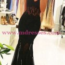 Long Black Sexy Lace Mermaid Prom Party Dresses 559