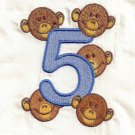 Five Little Monkeys Machine Embroidery Designs 4x4 Hoop