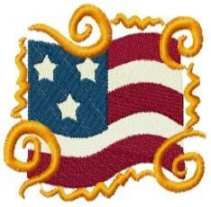 Patriotic 4th of July Embroidery Designs 4x4 Hoop
