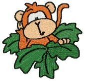 Monkey Around Machine Embroidery Designs 4x4 Hoop