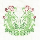 Art Nouveau Floral Embroidery Designs 4x4 Hoop
