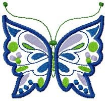 Applique Spring Butterfly Machine Embroidery Designs 4x4 Hoop