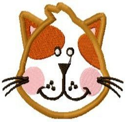 Applique Animal Faces Machine Embroidery Design 4x4 Hoop
