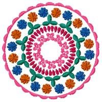 Colorful Circles Machine Embroidery Designs 5x7 Hoop