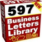597 Business Letters Template