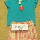 24mo girls outfit with matching headband or hair clip