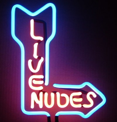 16 x 10 Neon Live Nudes Sign