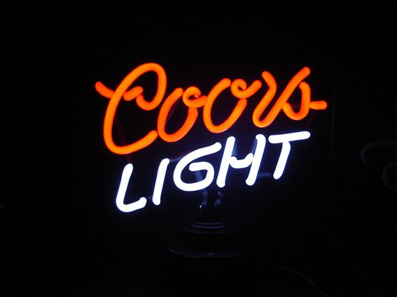 11 x 10 Neon Coors Light Sign
