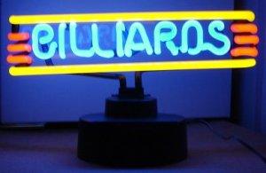 13.5 x 8 Neon Billiards Sign