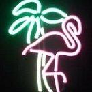 """19"""" x 7"""" Neon Flamingo Sign"""