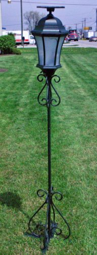 65 Steel Solar Powered Decorative Lamp w post