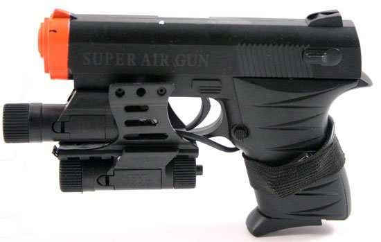 5in 6mm Model Air Soft Pistol - BlueLight - Laser