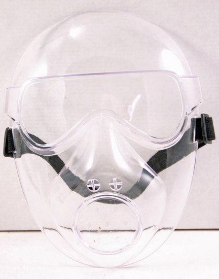 The Survivor Clear Face Guard Mask:Safety Airsoft   Free Shipping