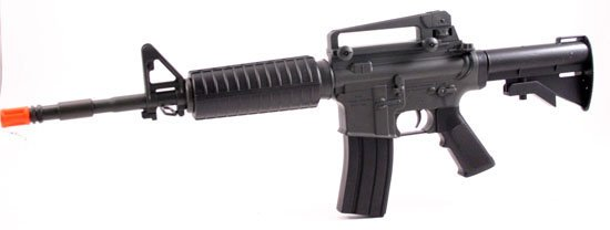 30in Battery Operated M4A-1 Model Air Soft Rifle   Free Shipping