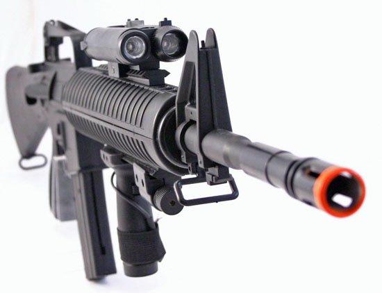 AS118  M16-A3 Air Soft Rifle Gun:Laser Site:Flashlight