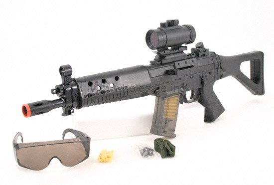 AS68:SG552 Air Soft Rifle Gun w Safety Glasses- FREE Shipping