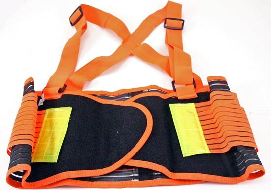 XL Back Support Belt w/Reflecting Strips for Safety ~ Free Shipping
