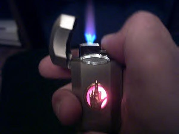 Talking Finger Lighter W/ Light