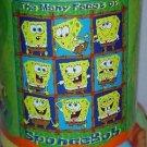 "50"" x 60"" The Faces of Spongebob Squarepants Fleece Blanket"