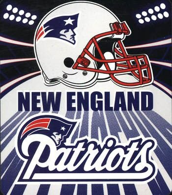 "50"" x 60"" New England Patriots Fleece Blanket"