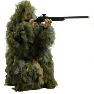 Polyester Leaf Ghillie Suit