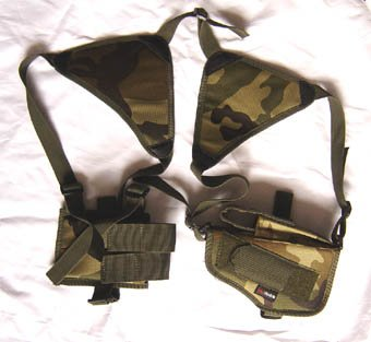 Camo Shoulder Holster w/Clip Holder